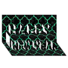 Tile1 Black Marble & Green Marble (r) Happy New Year 3d Greeting Card (8x4)