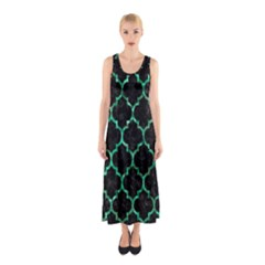 TIL1 BK-GR MARBLE (R) Full Print Maxi Dress
