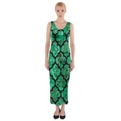 TIL1 BK-GR MARBLE Fitted Maxi Dress