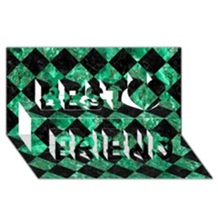 Square2 Black Marble & Green Marble Best Friends 3d Greeting Card (8x4)