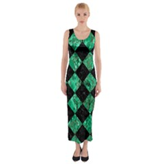 SQR2 BK-GR MARBLE Fitted Maxi Dress