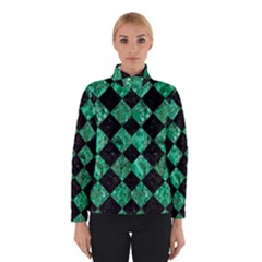 Square2 Black Marble & Green Marble Winter Jacket