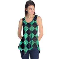Square2 Black Marble & Green Marble Sleeveless Tunic