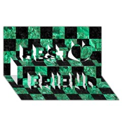 Square1 Black Marble & Green Marble Best Friends 3d Greeting Card (8x4)