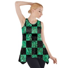 SQR1 BK-GR MARBLE Side Drop Tank Tunic