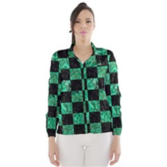 SQR1 BK-GR MARBLE Wind Breaker (Women)