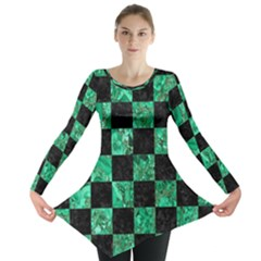 Square1 Black Marble & Green Marble Long Sleeve Tunic