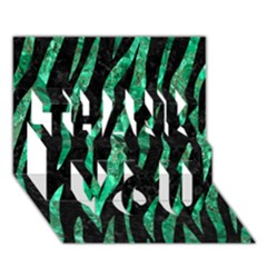 Skin3 Black Marble & Green Marble (r) Thank You 3d Greeting Card (7x5)