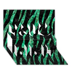 Skin3 Black Marble & Green Marble (r) You Did It 3d Greeting Card (7x5)