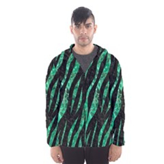 SKN3 BK-GR MARBLE (R) Hooded Wind Breaker (Men)