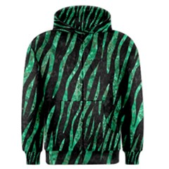 Skin3 Black Marble & Green Marble (r) Men s Zipper Hoodie