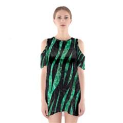 SKN3 BK-GR MARBLE (R) Cutout Shoulder Dress
