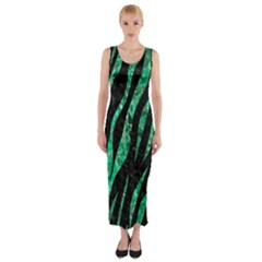 SKN3 BK-GR MARBLE (R) Fitted Maxi Dress