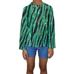 SKN3 BK-GR MARBLE Kid s Long Sleeve Swimwear