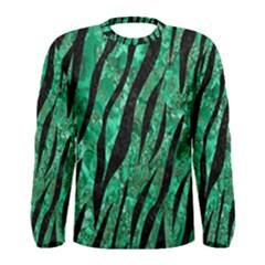 Skin3 Black Marble & Green Marble Men s Long Sleeve Tee