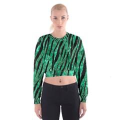 SKN3 BK-GR MARBLE Women s Cropped Sweatshirt