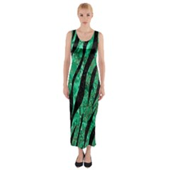 SKN3 BK-GR MARBLE Fitted Maxi Dress
