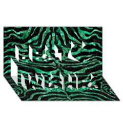 Skin2 Black Marble & Green Marble (r) Best Wish 3d Greeting Card (8x4)