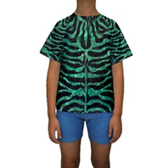 SKN2 BK-GR MARBLE (R) Kid s Short Sleeve Swimwear