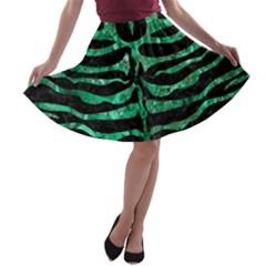 SKN2 BK-GR MARBLE (R) A-line Skater Skirt