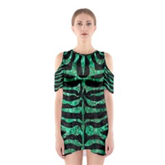 Skin2 Black Marble & Green Marble (r) Shoulder Cutout One Piece