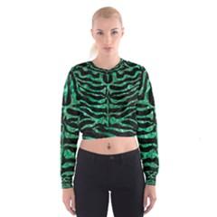 SKN2 BK-GR MARBLE (R) Women s Cropped Sweatshirt