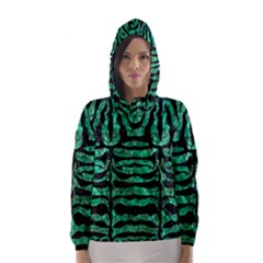 SKN2 BK-GR MARBLE Hooded Wind Breaker (Women)