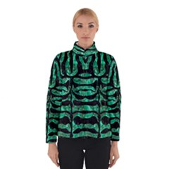 Skin2 Black Marble & Green Marble Winter Jacket
