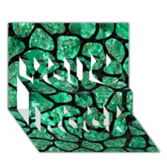 Skin1 Black Marble & Green Marble (r) You Rock 3d Greeting Card (7x5)