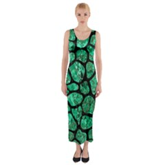 SKN1 BK-GR MARBLE (R) Fitted Maxi Dress