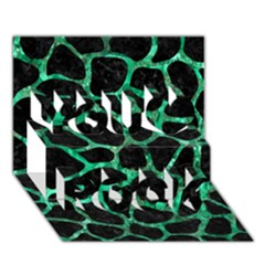 Skin1 Black Marble & Green Marble You Rock 3d Greeting Card (7x5)