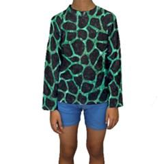 SKN1 BK-GR MARBLE Kid s Long Sleeve Swimwear