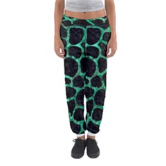 Skin1 Black Marble & Green Marble Women s Jogger Sweatpants