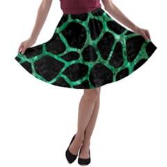 SKN1 BK-GR MARBLE A-line Skater Skirt