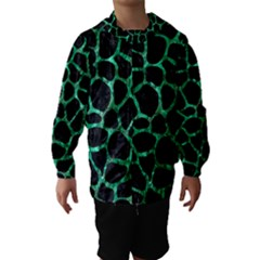 Skin1 Black Marble & Green Marble Hooded Wind Breaker (kids)