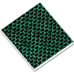 Scales3 Black Marble & Green Marble (r) Small Memo Pads