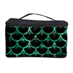 Scales3 Black Marble & Green Marble (r) Cosmetic Storage Case