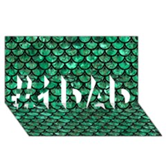 Scales3 Black Marble & Green Marble #1 Dad 3d Greeting Card (8x4)