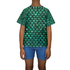SCA3 BK-GR MARBLE Kid s Short Sleeve Swimwear