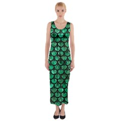 SCA3 BK-GR MARBLE Fitted Maxi Dress