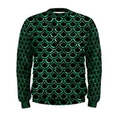 Scales2 Black Marble & Green Marble (r) Men s Sweatshirt