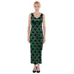 SCA2 BK-GR MARBLE (R) Fitted Maxi Dress