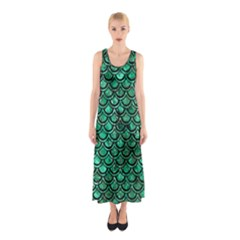 SCA2 BK-GR MARBLE Full Print Maxi Dress