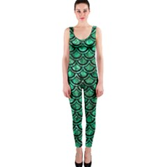 Scales2 Black Marble & Green Marble Onepiece Catsuit