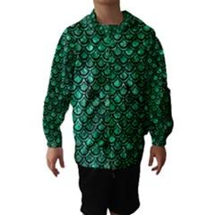 Scales2 Black Marble & Green Marble Hooded Wind Breaker (kids)