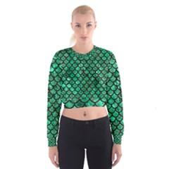 SCA1 BK-GR MARBLE Women s Cropped Sweatshirt