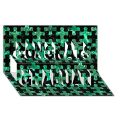 Puzzle1 Black Marble & Green Marble Congrats Graduate 3d Greeting Card (8x4)