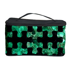 Puzzle1 Black Marble & Green Marble Cosmetic Storage Case