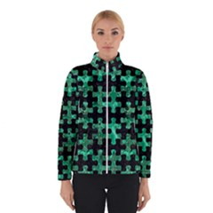 Puzzle1 Black Marble & Green Marble Winter Jacket