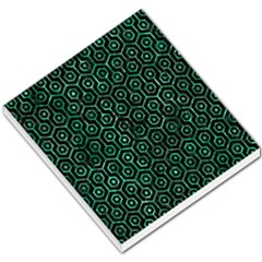 Hexagon1 Black Marble & Green Marble (r) Small Memo Pads